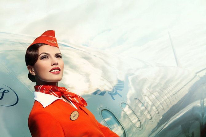 俄罗斯空姐写真