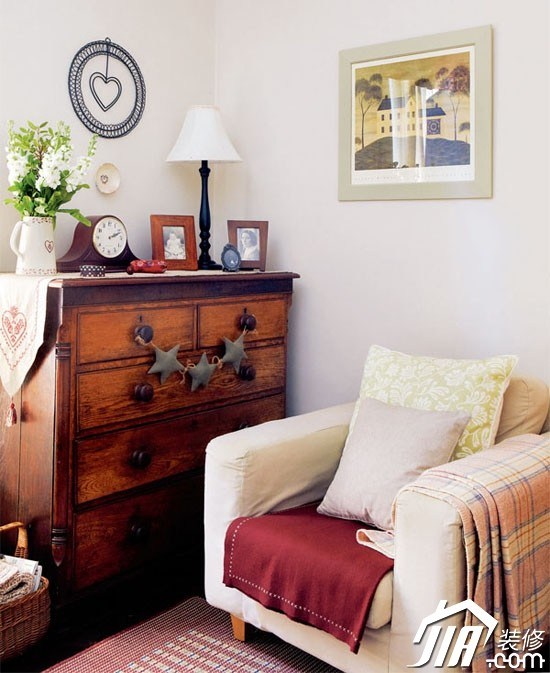 田园海洋混搭风 舒适一居室装修