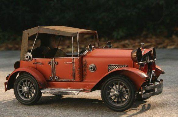 Handmade Antique Model Kit Car-Rolls Royce 1912 Silver