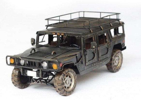 Handmade Antique Tin Model Car-Hummer H1