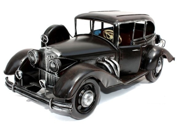 Handmade Antique Tin Model Car-1934 Mercedes Benz