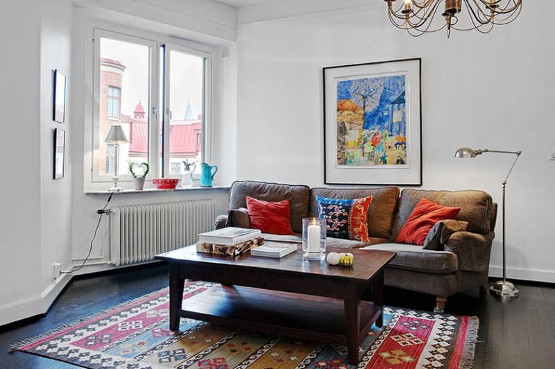 复古与现代完美结合 白色简约一居室