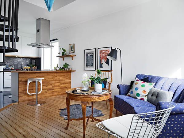 实木巧搭 哥德堡51平复式小公寓
