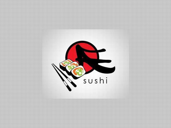 """以""""寿司""""为元素的logo设计"""