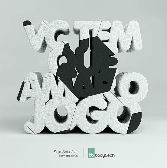 国外创意字体广告海报设计欣赏图片