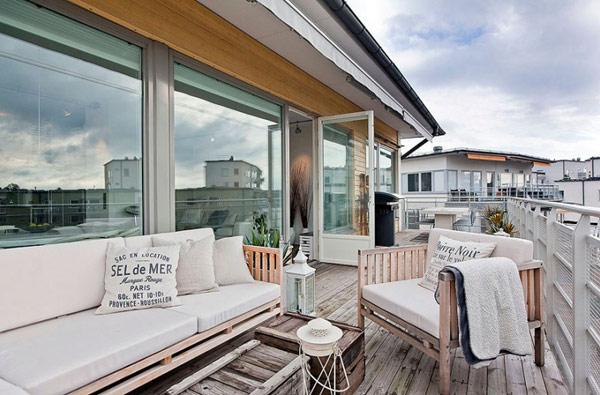 北欧大空间舒适顶层公寓