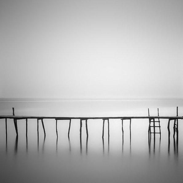 极简主义-黑白景物摄影