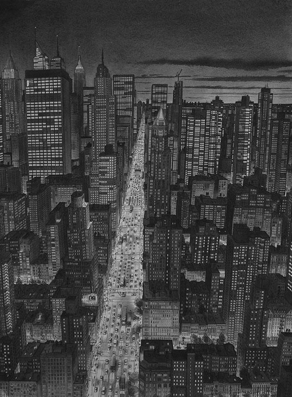 Stefan Bleekrode绘画作品:城市