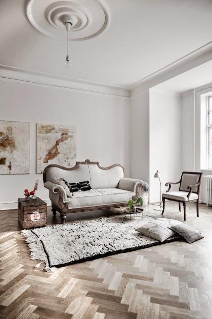 欧式叠加复古的北欧公寓