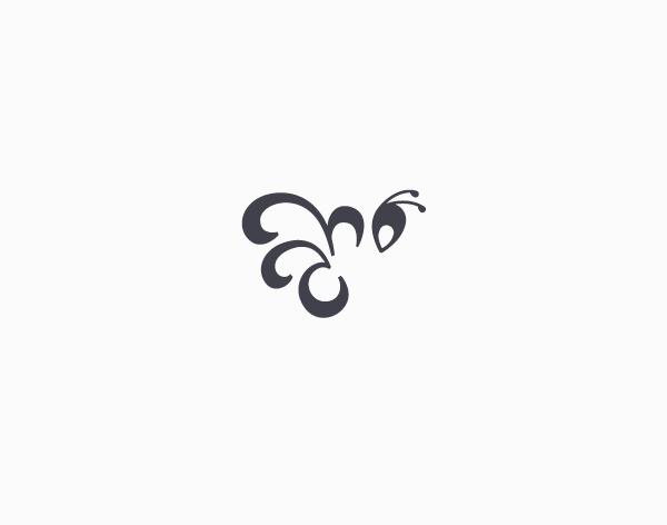 灰色调国外logo创意图形设计欣赏