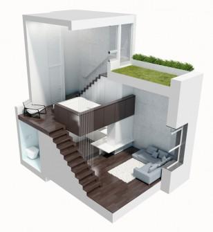 曼哈顿MicroLoft公寓室内设计