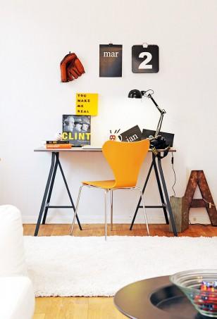 阳光朝气创意跃层小空间,平面工作者的家