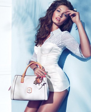 Sandrah Hellberg is Pin-up Glam for the Guess Accessories Holiday 2012 Campaign by Claudia & Ralf Pu