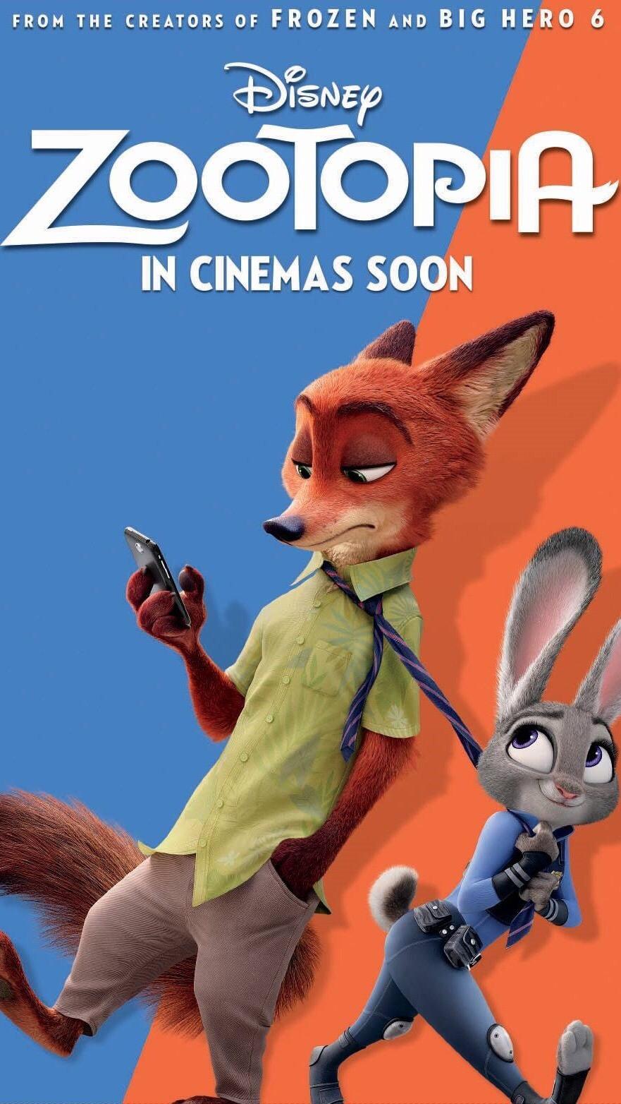 zootopia – 《疯狂动物城》电影海报