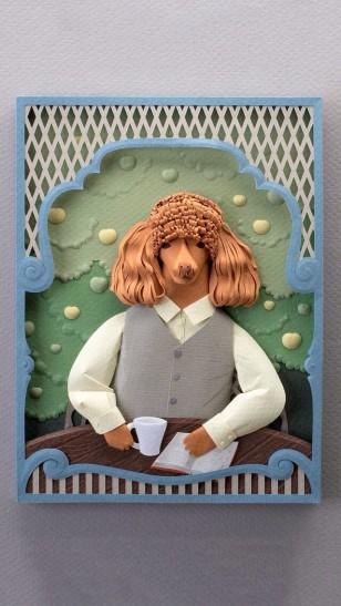 纸艺作品:宠物肖像