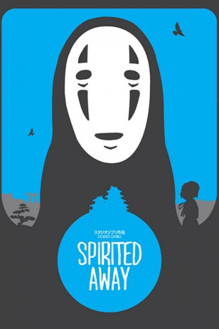 Spirited Away - Craig McKeown为吉卜力工作室设计的动画海报之《千与千寻》