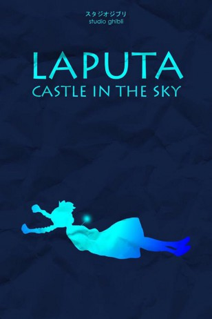 Laputa: Castle in the Sky - Craig McKeown为吉卜力工作室设计的动画海报之《天空之城》