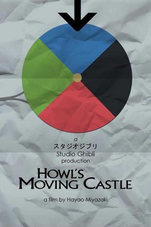 Howl's Moving Castle - Craig McKeown为吉卜力工作室设计的动画海报之《哈尔的移动城堡》