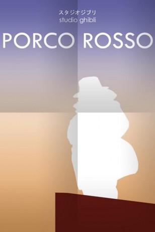 Porco Rosso - Craig McKeown为吉卜力工作室设计的动画海报之《红猪》