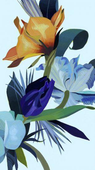Hiroyuki Izutsu - 日本插画师 Hiroyuki Izutsu 花卉系列作品