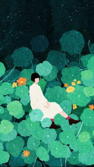 Green - 越南插画师 Xuan Ioc Xuan 作品:绿