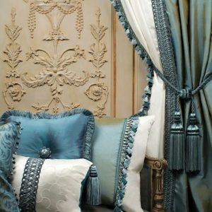 天蓝色窗帘系列