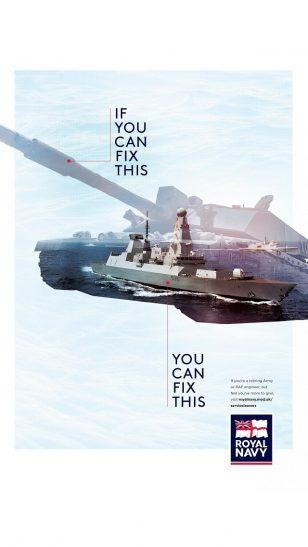 Royal Navy - 英国皇家海军面向退役军人的工程师招聘广告