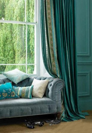 绿色窗帘系列