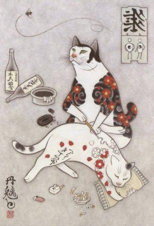 Monmon Cats 纹身猫