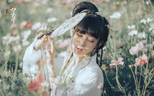古风美女花丛写真高清