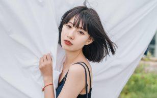 短发美女日系风文艺写真