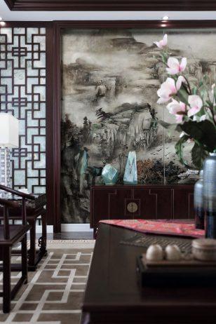 墨客设计–海南诺德·丽湖半岛一期C1别墅–新东方中式