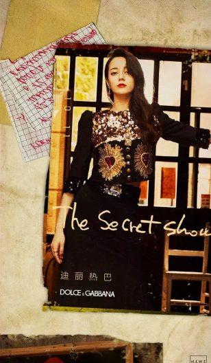 迪丽热巴The secert show海报复古写真