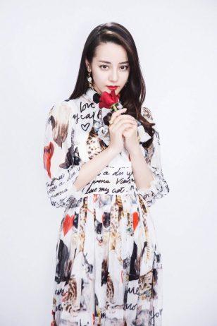 迪丽热巴清纯雪纺长裙性感写真