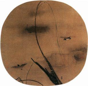 秋柳双鸦图