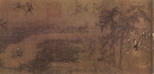 《阆苑女仙图》 阮 部 长卷 绢本 设色 纵42.7厘米 横177.2厘米 北京故宫博物院藏