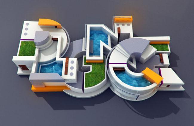 创意3d立体字设计作品