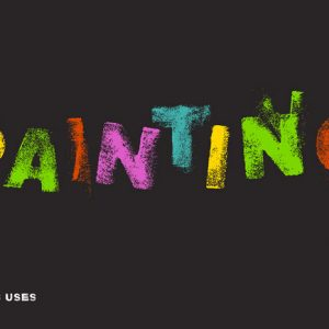 海绵创意字体设计欣赏