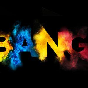 爆炸字体设计欣赏