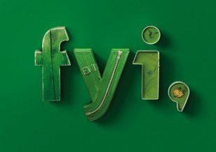 立体英文字广告模版设计