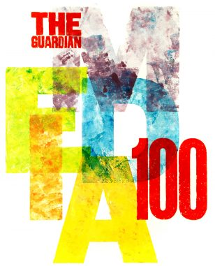 The Guardian Media 100 Poster