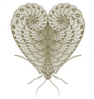 Moth To A Flame Book of Hearts Francesca Gavin