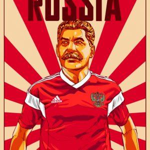阿迪达斯世界杯俄罗斯海报