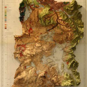 3D地图艺术品