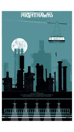 Nighthawk - 美国设计工作室 Fro Desgin 作品之《夜鹰》电影海报