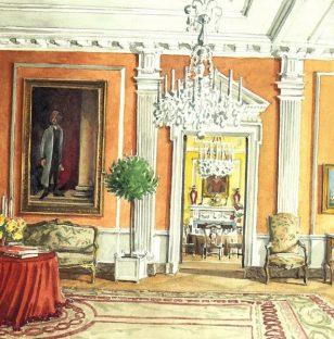美国设计界传奇人物马克·汉普顿主持白宫设计手稿