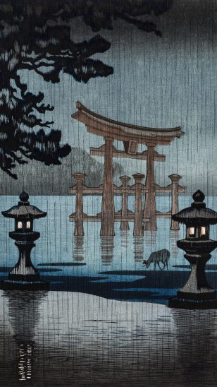 Nagoya Castle  日本浮世绘画家土屋光逸(Tsuchiya Koitsu)作品