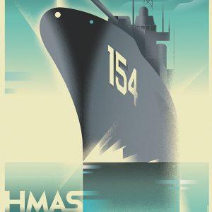 复古装饰艺术风格的旅行海报设计