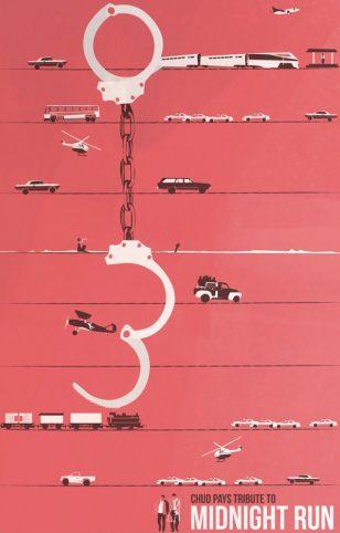 Midnight Run - 美国设计工作室 Fro Desgin 作品之《午夜狂奔》电影海报