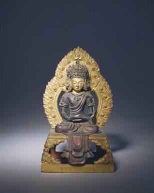 铜鎏金无量寿佛坐像